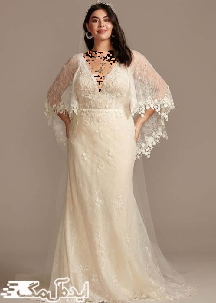 لباس عروس پری دریایی با سایز بزرگ