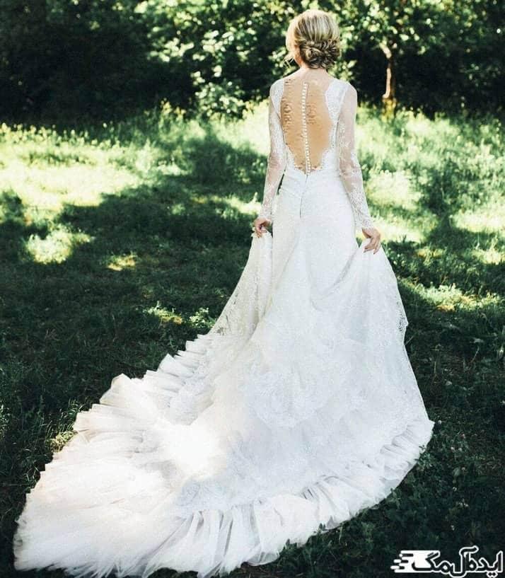 مدل لباس عروس پشت باز