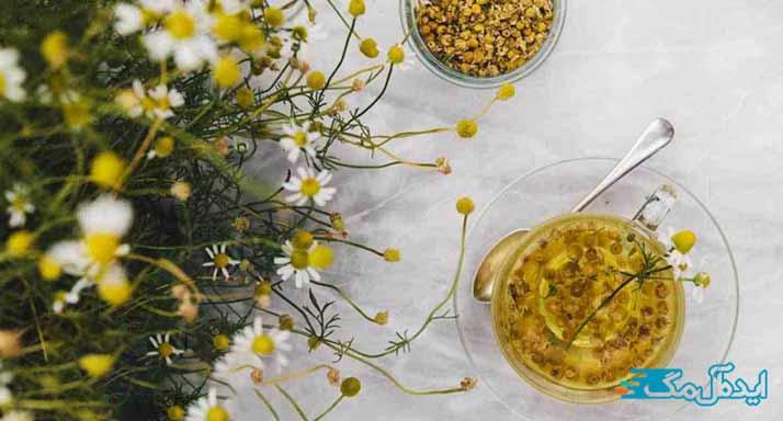دمنوش بابونه داروی گیاهی برای سرفه