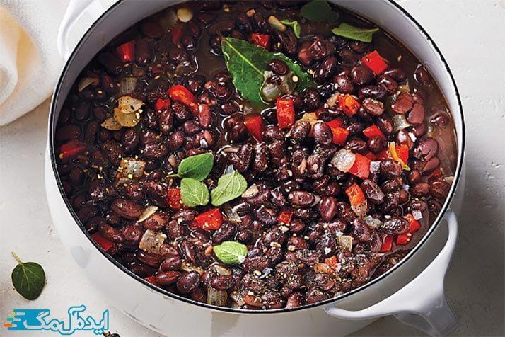 خوراک لوبیای سیاه