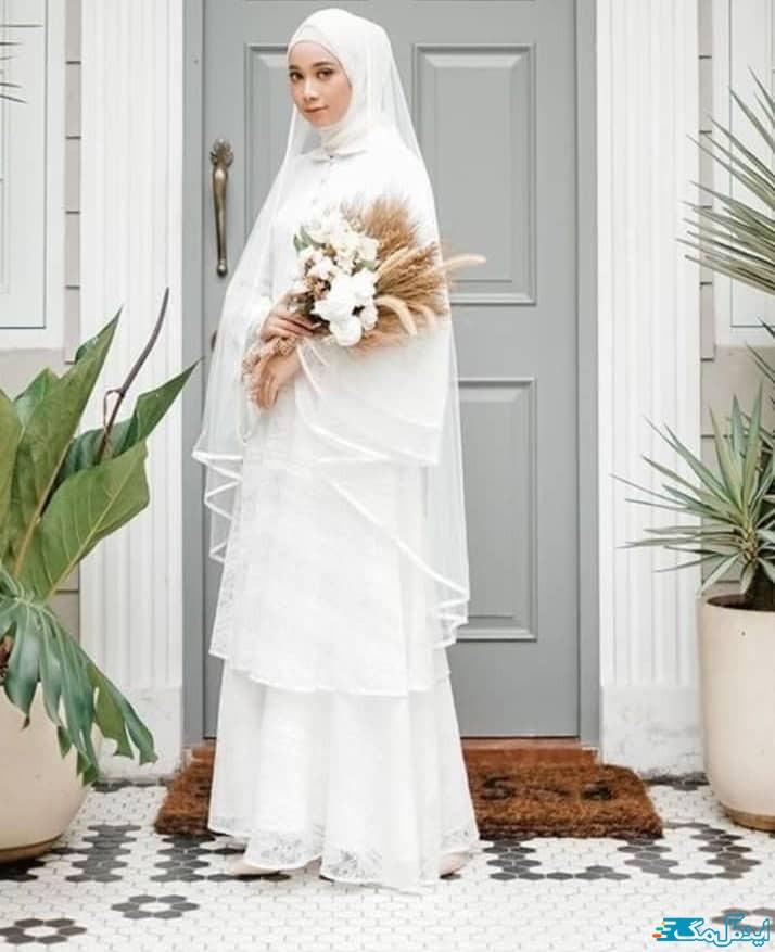 مدل لباس عروس پوشیده محجبه