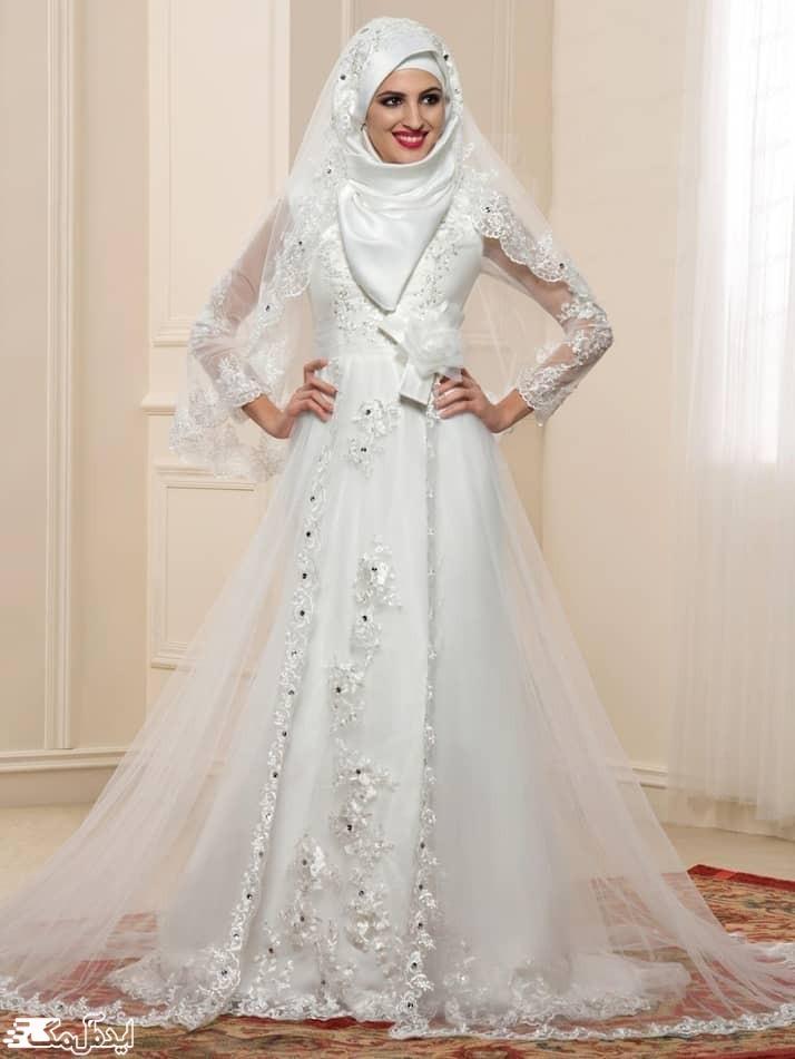 مدل لباس عروس پوشیده جدید