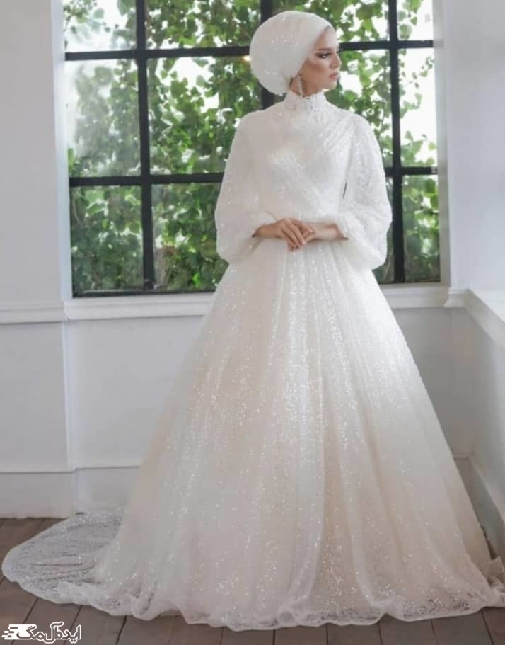 مدل لباس عروس پوشیده دخترانه