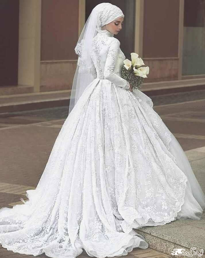 لباس عروس پوشیده پرنسسی