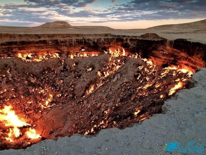 دروازه جهنم در کشور ترکمنستان از ترسناک ترین مکان های دنیا
