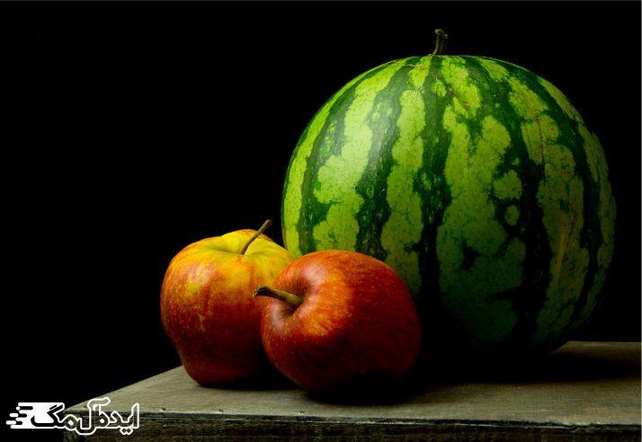 هندوانه و سیب برای کاهش وزن