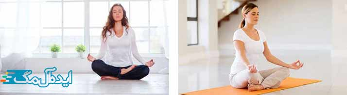 آرام شدن روح با یوگا