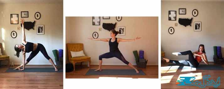 انجام ورزش یوگا
