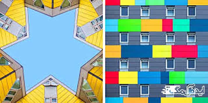 استفاده از رنگ ها در نمای خارجی