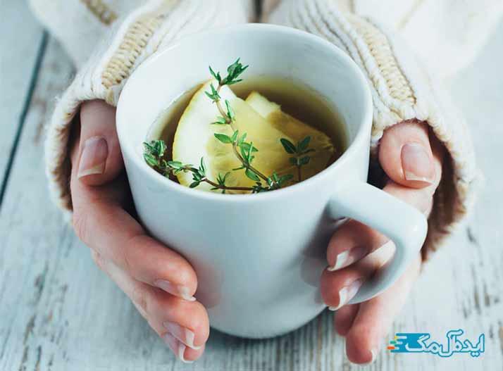 دمنوش آویشن برای درمان سرفه