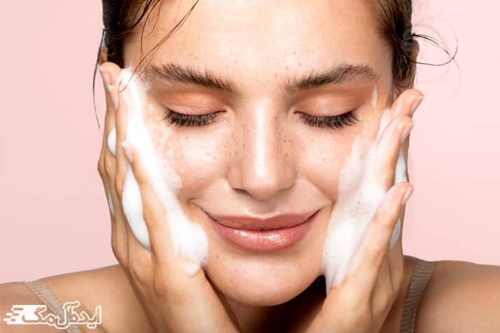 شستشوی صحیح صورت برای جلوگیری از ایجاد خشکی