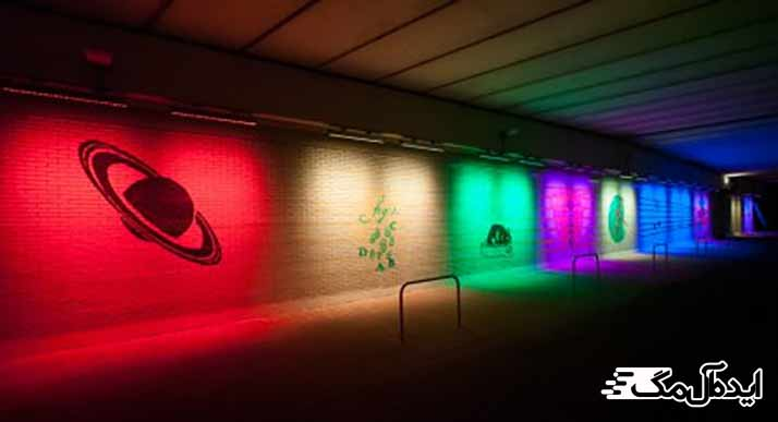 استفاده از نورهای رنگی در دکوراسیون