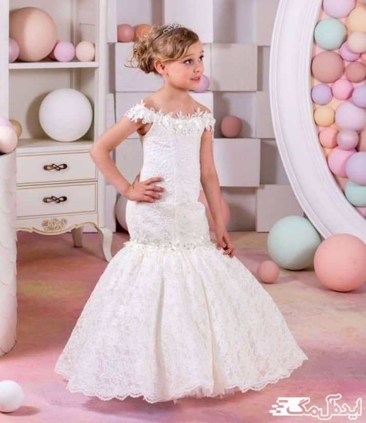 مدل لباس عروس بچگانه بلند