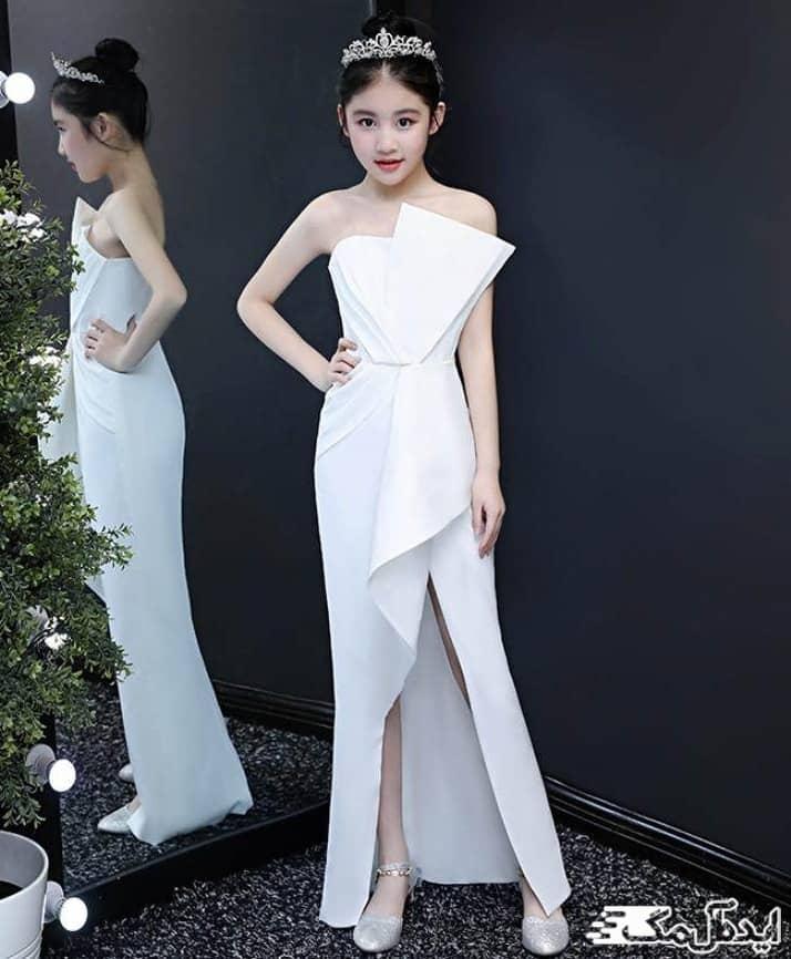 لباس عروس بلند برای دختر بچه