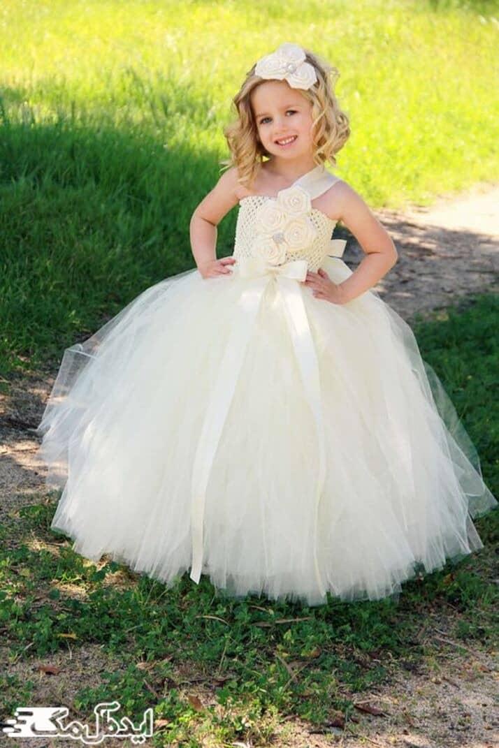 مدل لباس عروس بچگانه پرنسسی