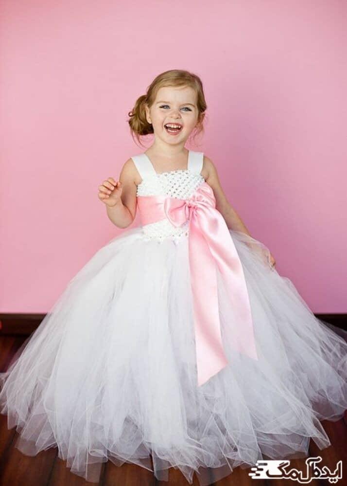 مدل لباس عروس بچه گانه پرنسسی