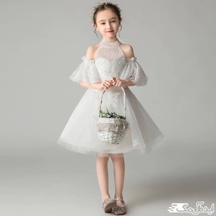 لباس عروس کوتاه کودکانه