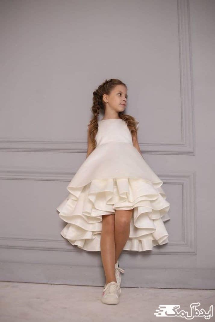 مدل لباس عروس بچگانه کوتاه