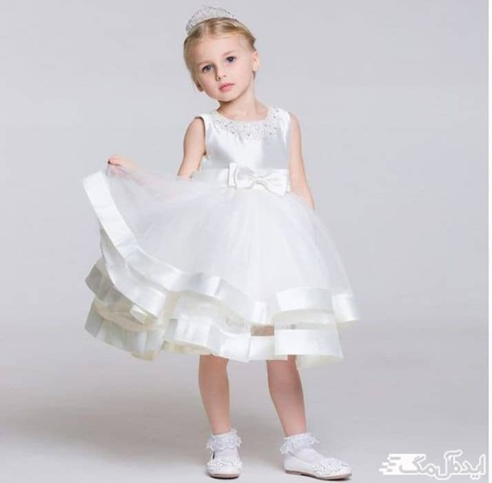 لباس عروس بچگانه کوتاه