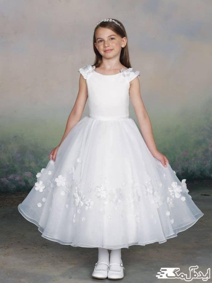 مدل لباس عروس بچگانه ساده