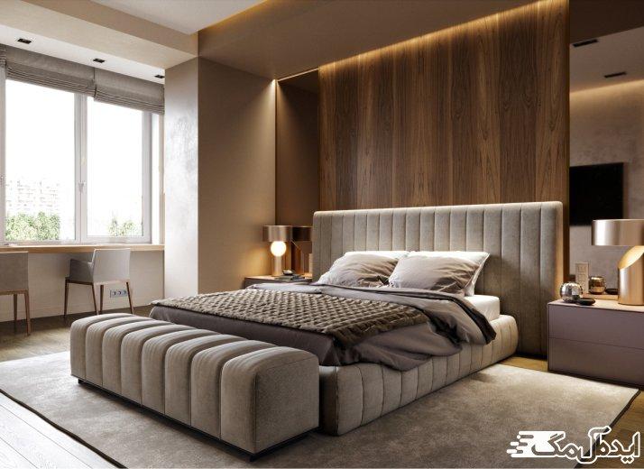طرح اتاق خواب با چیدمان مدرن
