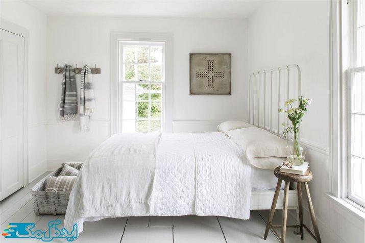 طرح اتاق خواب سفید و شیک