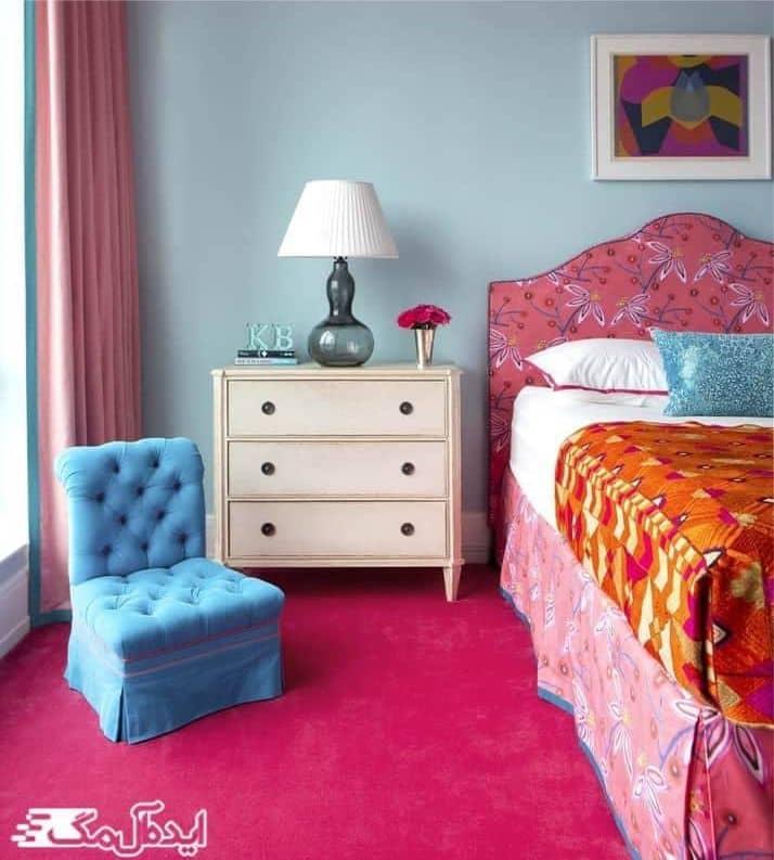 بازی با رنگ ها در اتاق خواب