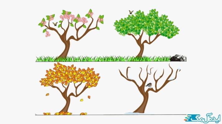 برسی عوامل موثر بر آبیاری درختان