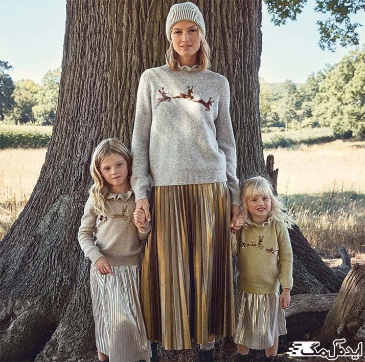 ست بلوز و دامن خانگی برای مادر و دختر