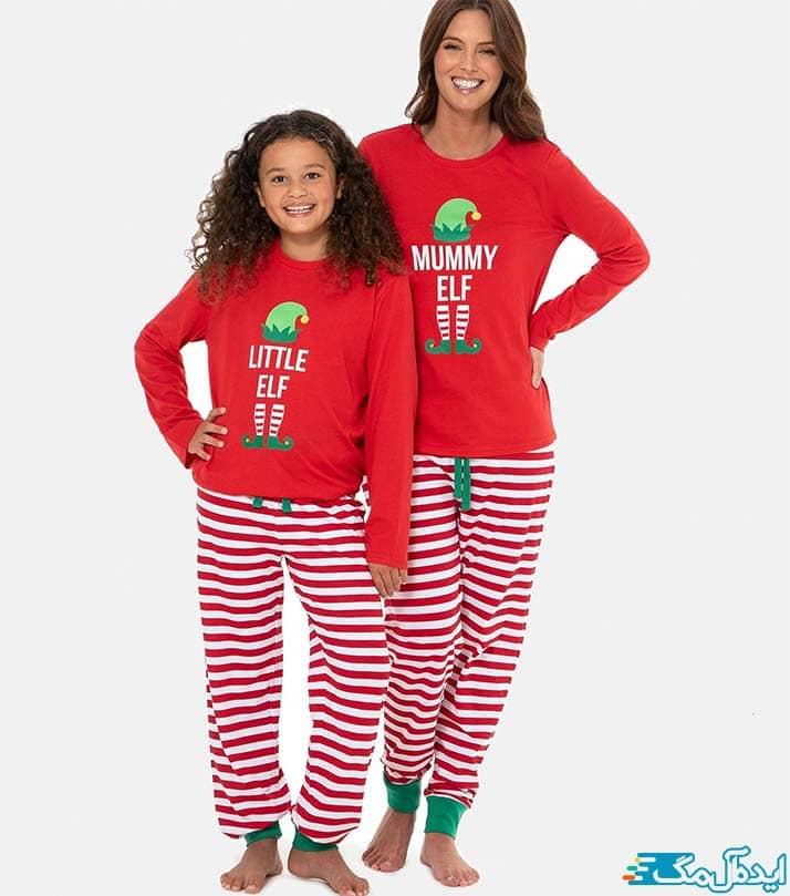 ست مادر و دختری با طرح کریسمس
