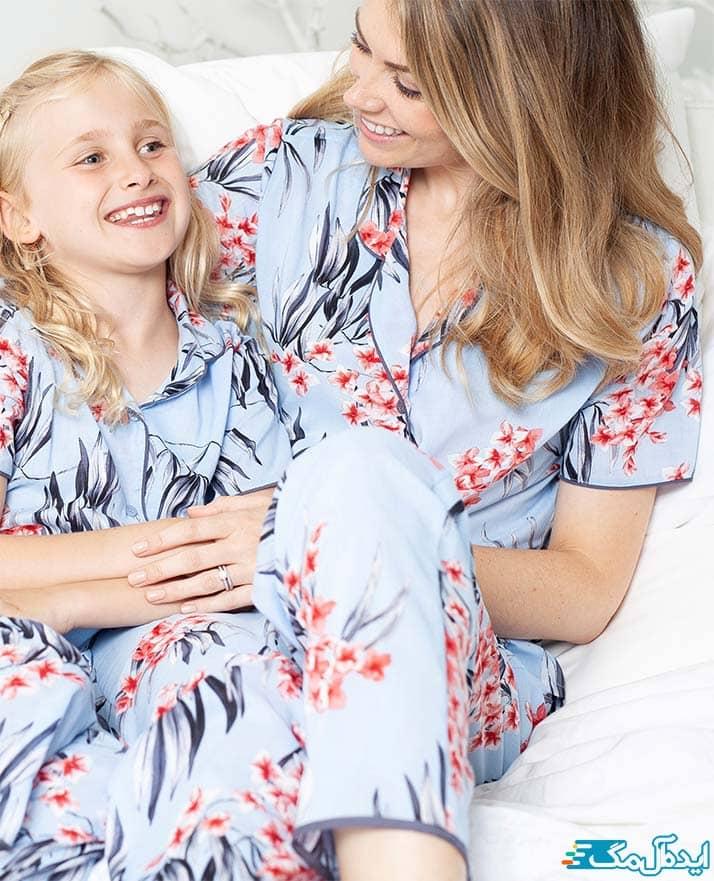 ست لباس خانگی نخی برای مادران و دختران