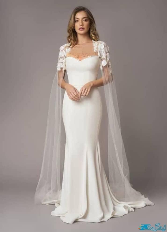 لباس عروس شنل دار