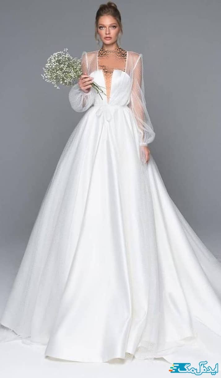 لباس عروس پوشیده شیک و جدید