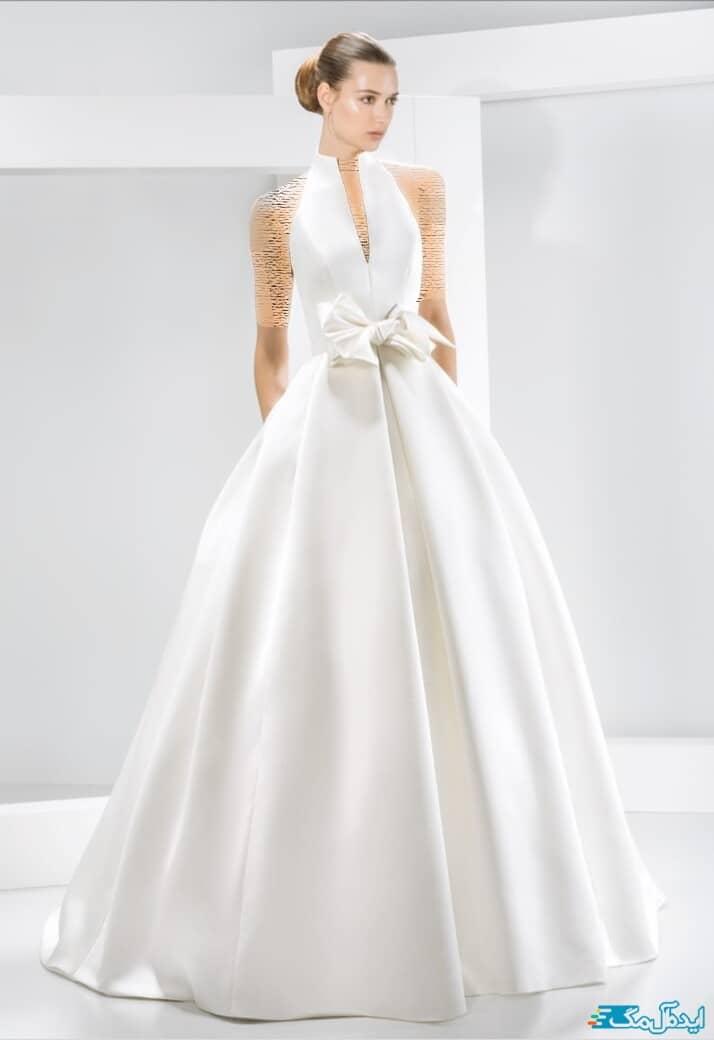 لباس عروس یقه ژاپنی 2020