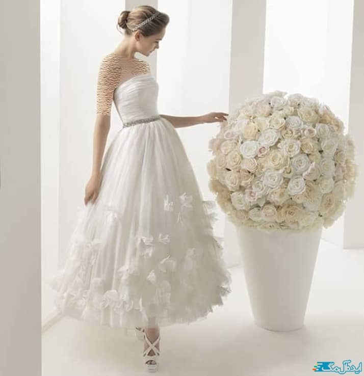 مدل لباس عروس کوتاه فانتزی