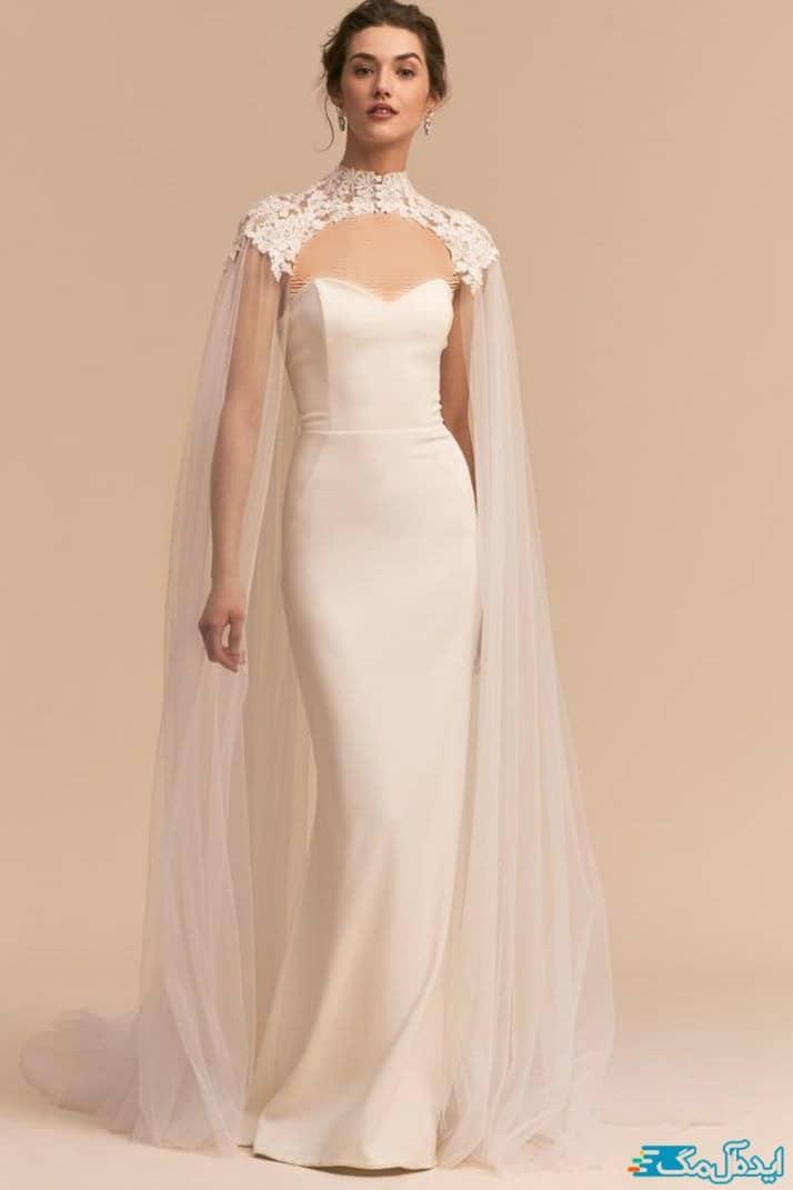 لباس عروس شنل دار 2020