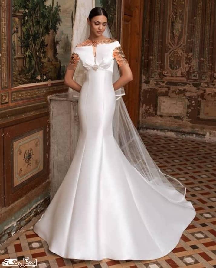 لباس عروس ساتن ساده