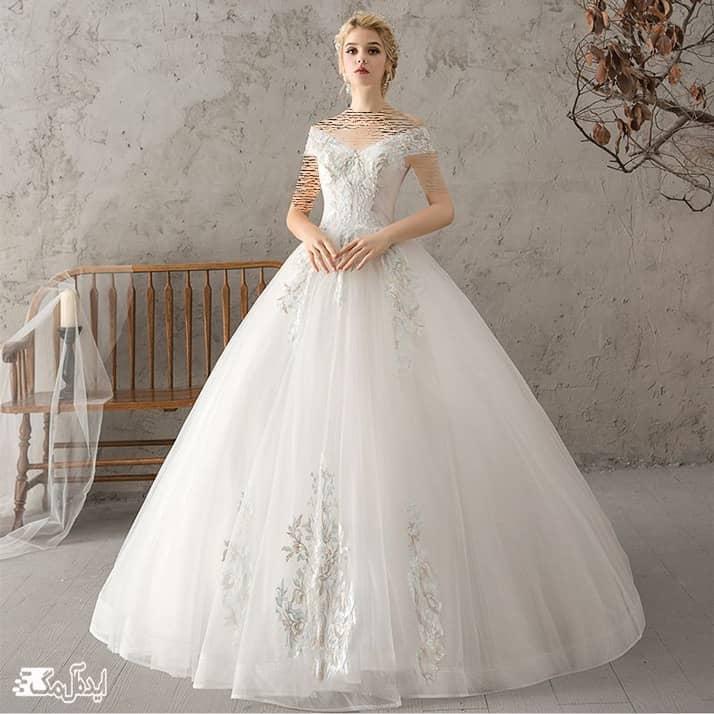 مدل لباس عروس ساده و شیک پرنسسی
