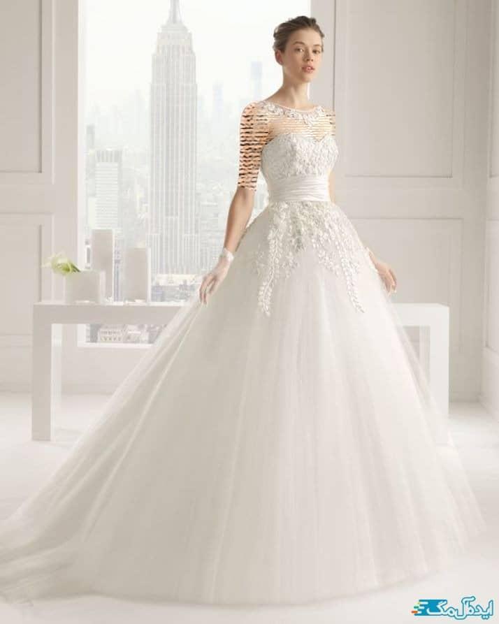 مدل لباس عروس اروپایی دانتل