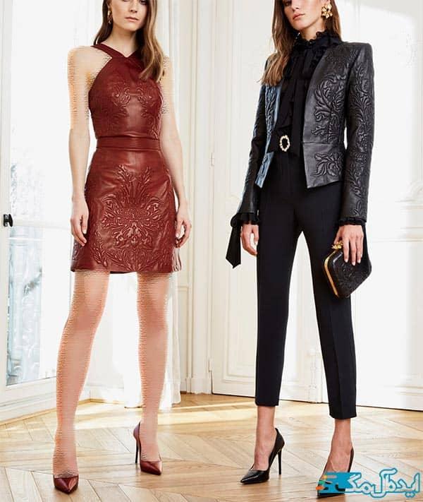 مدل لباس مجلسی چرم زنانه 2021
