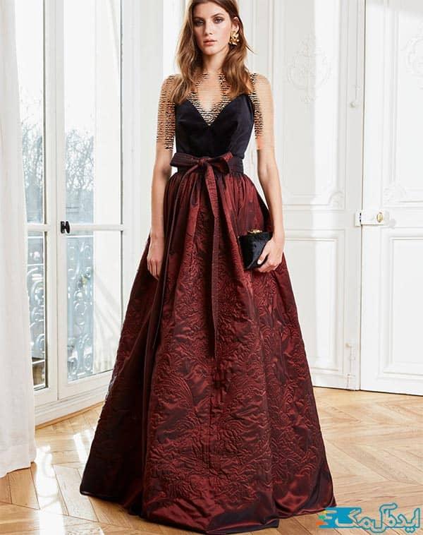 لباس شب زنانه مخمل 2021