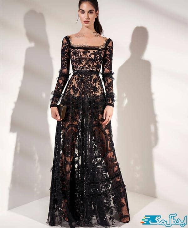 مدل لباس شب پولکی شیک و جدید