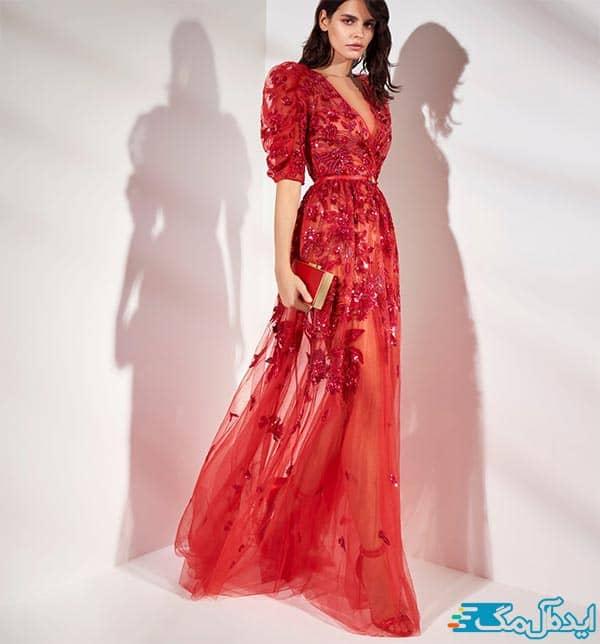 لباس ش زنانه با آستین پفی