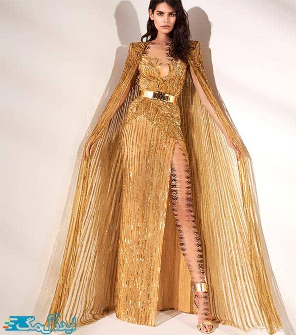 مدل لباس شب زنانه شنل دار