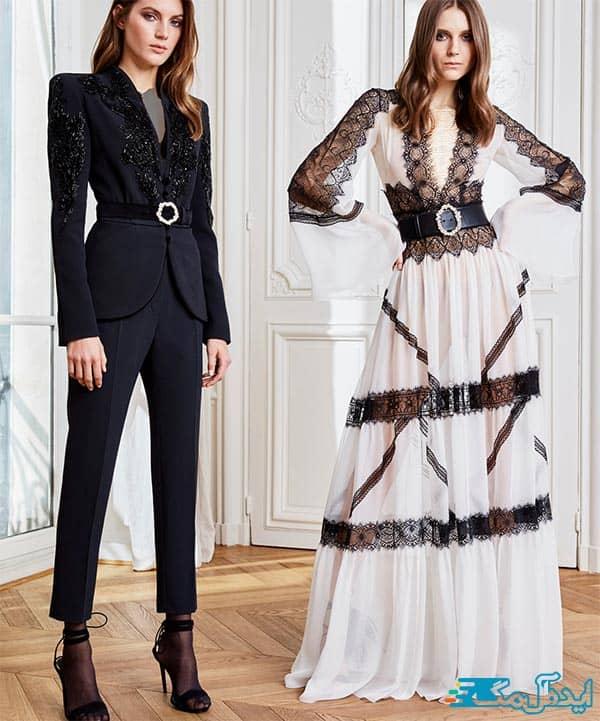 مدل کت و شلوار زنانه مشکی 2021