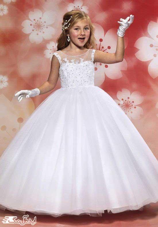 لباس عروس پرنسسی بچگانه