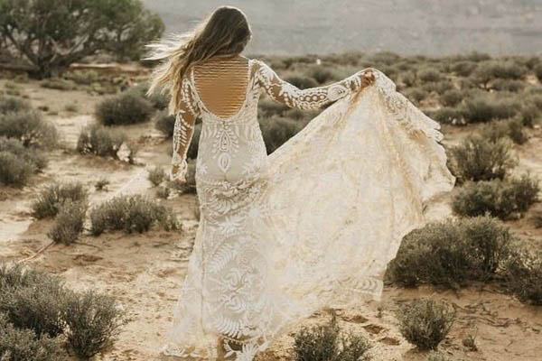 انواع مدل لباس عروس دانتل