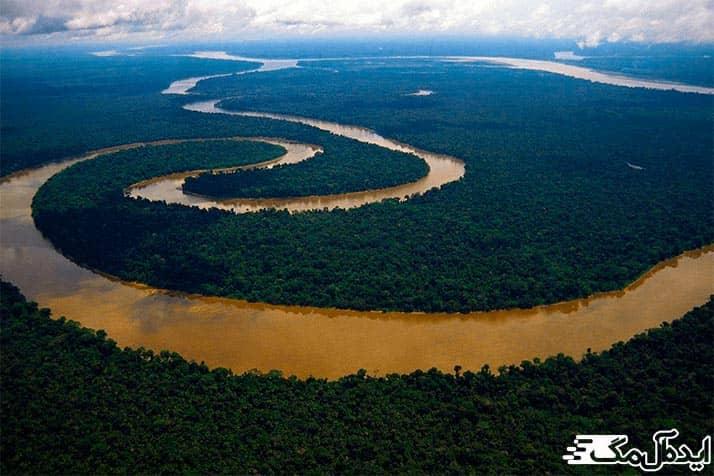 بزرگترین رودخانه های جهان