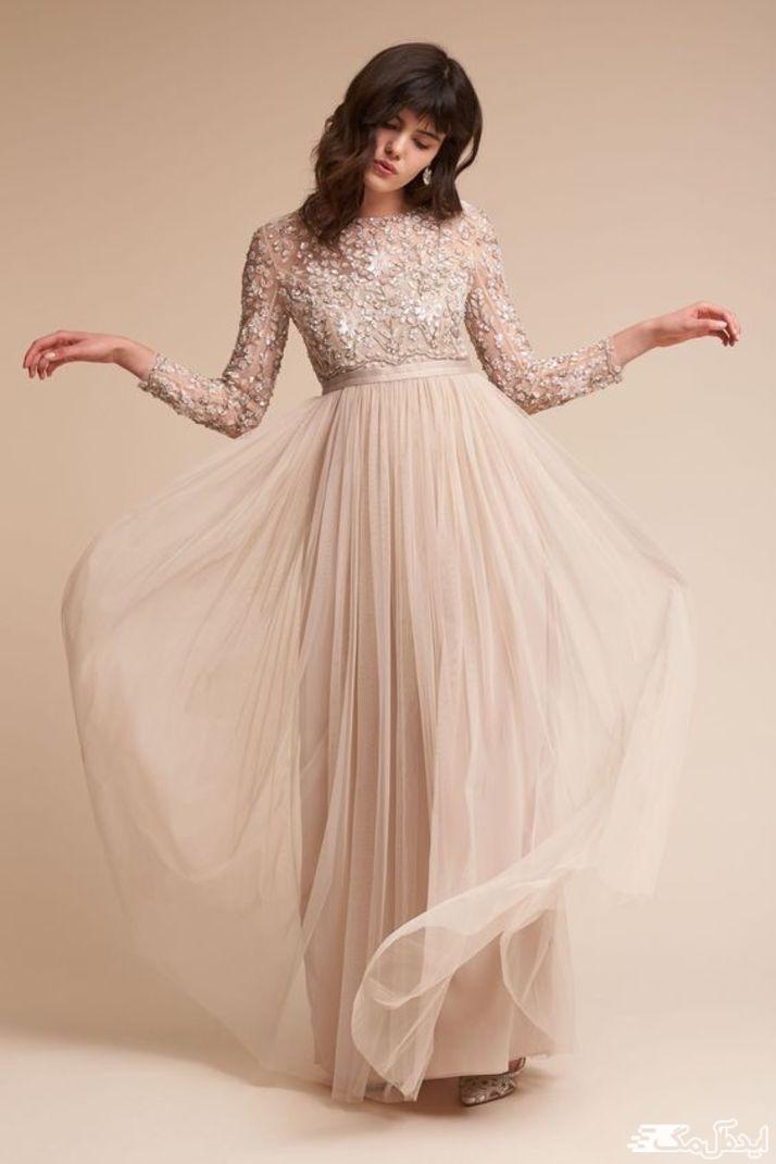 لباس عروس نامزدی با حجاب