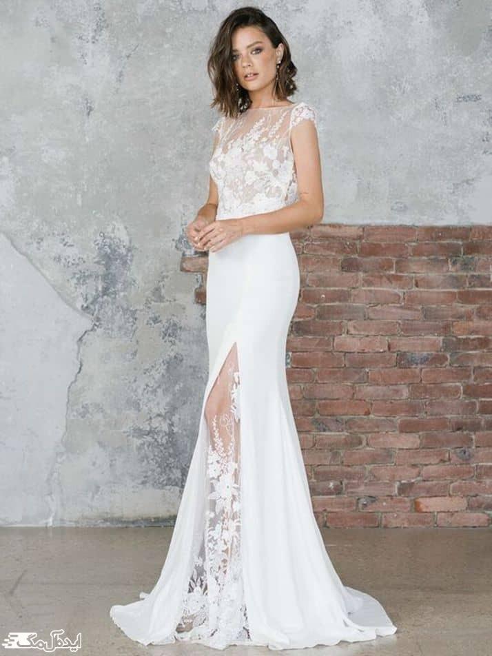 لباس عروس دانتل برای نامزدی